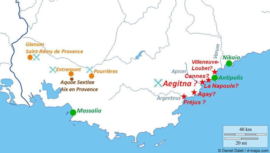 Sites des batailles antiques en Provence